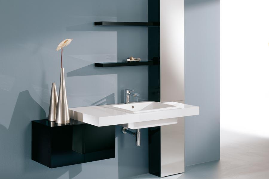Foster bagno trasparenze bianco - Bagno moderno bianco ...