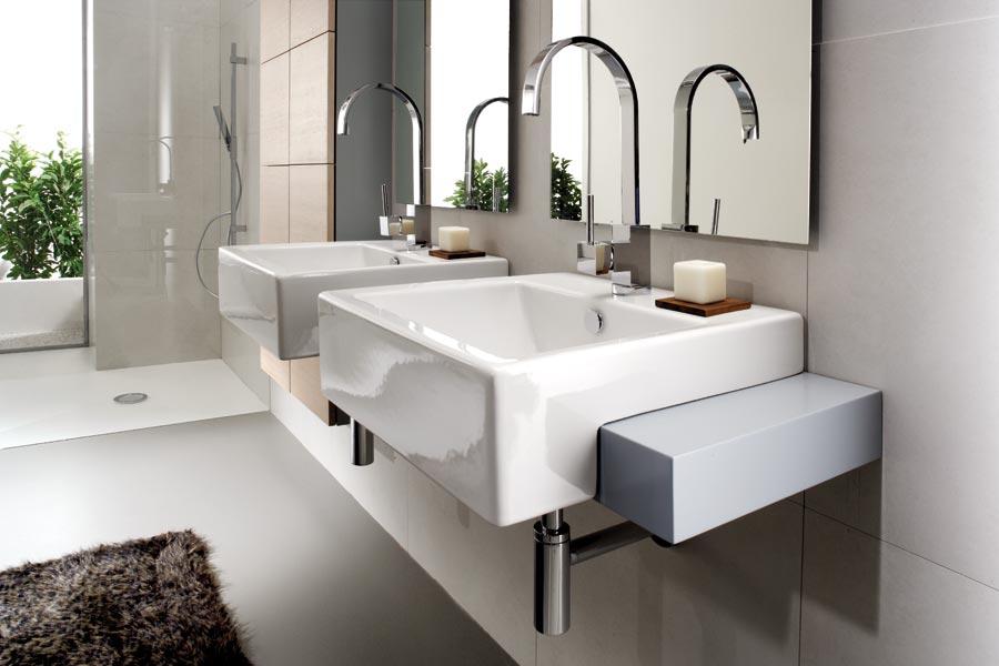 Foster bagno trasparenze grigio - Bagno moderno grigio ...