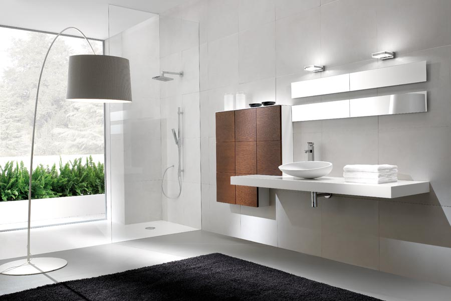 Foster bagno u trasparenze grigio